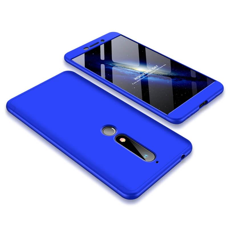FORCELL 360 ° Ochranný obal Nokia 6.1 modrý