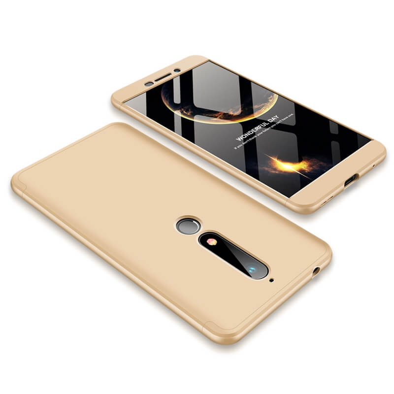 FORCELL 360 ° Ochranný obal Nokia 6.1 zlatý