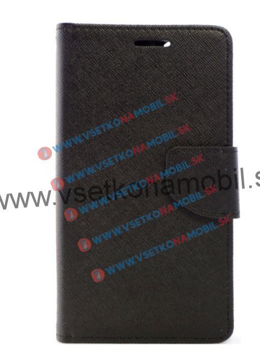 FANCY Peňaženkové flip púzdro Huawei Honor 5X čierne
