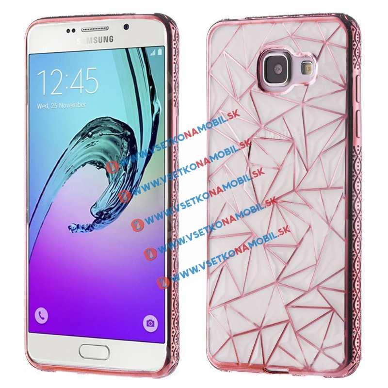 Silikonový kryt Samsung Galaxy A5 2016 DIAMOND růžový