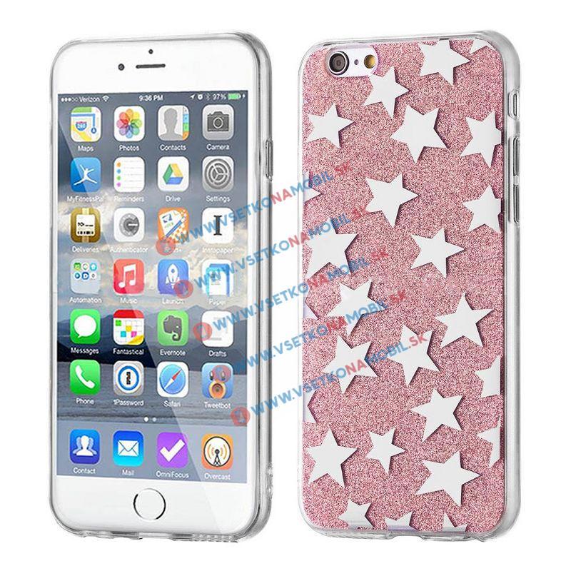 FORCELL SHINY STARS Ochranný obal Apple iPhone 5 / 5S / SE ružový