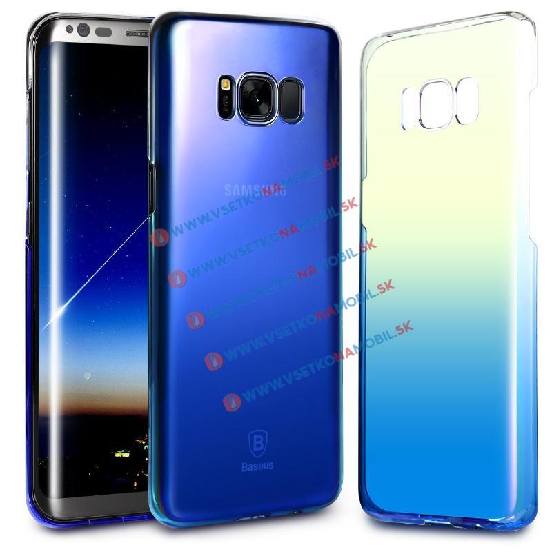 BASEUS GLAZE Ochranný kryt Samsung Galaxy S8 Plus modrý