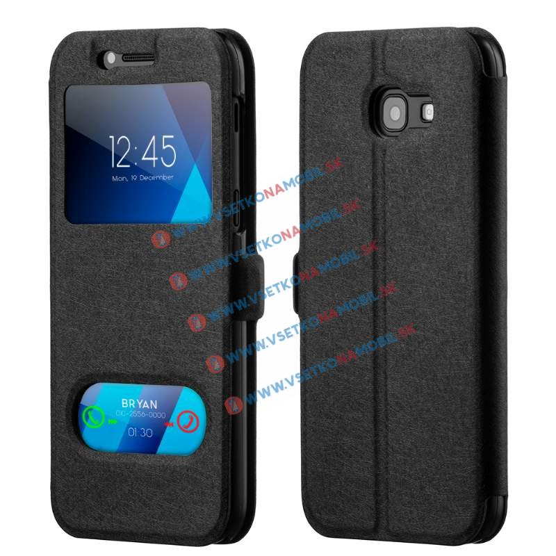 LUX Ultratenký flip obal Samsung Galaxy A3 2017 (A320) čierny