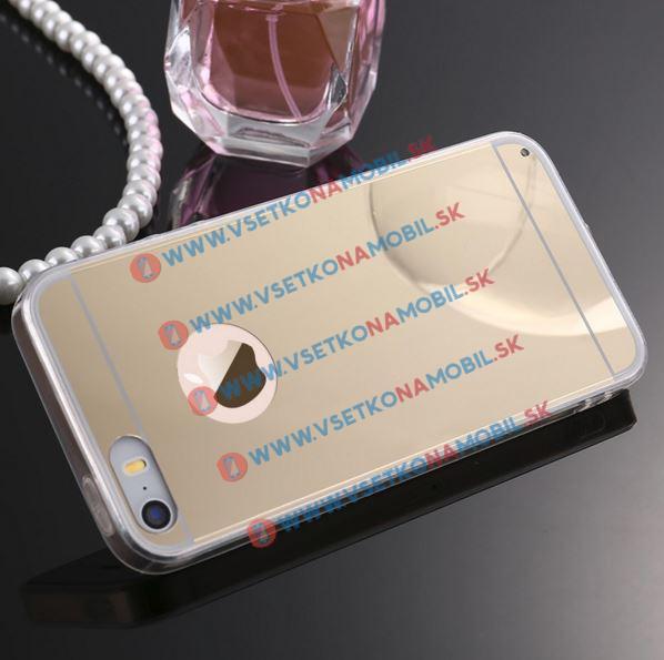 FORCELL Zrcadlový silikonový obal iPhone 4 / 4S zlatý