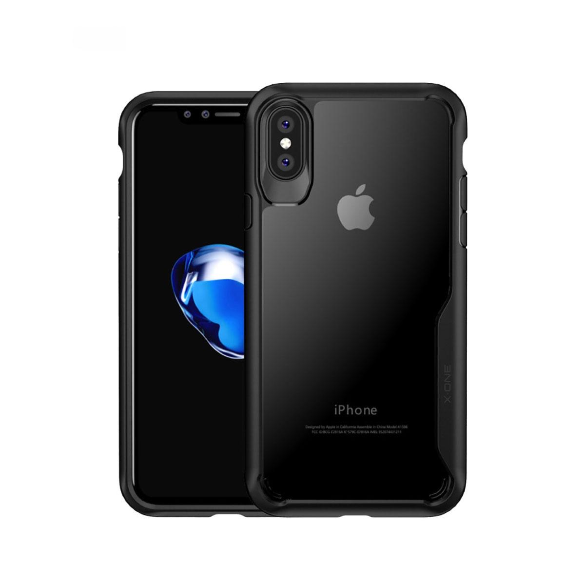 FORCELL X-ONE DROP Obal + 9H Tvrzené sklo Apple iPhone X / XS černé