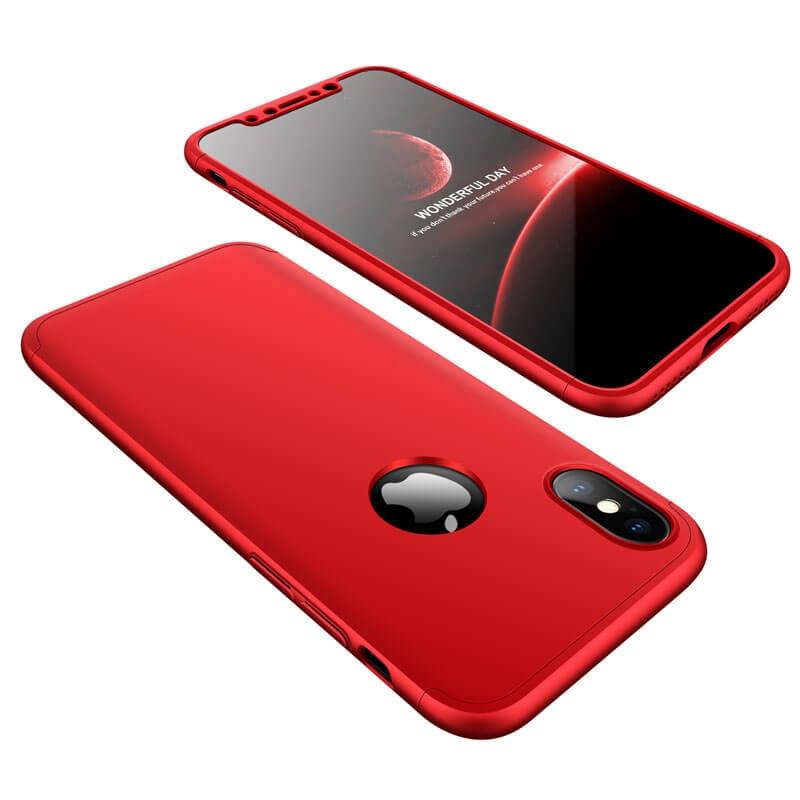 FORCELL 360 ° Ochranný obal Apple iPhone X / XS červený