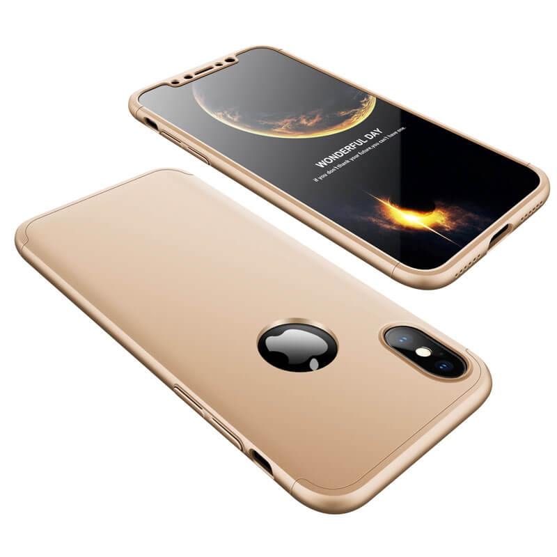 FORCELL 360 ° Ochranný obal Apple iPhone X / XS zlatý