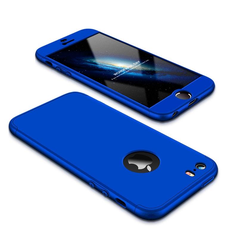 FORCELL 360 ° Ochranný obal Apple iPhone 5 / 5S / SE modrý
