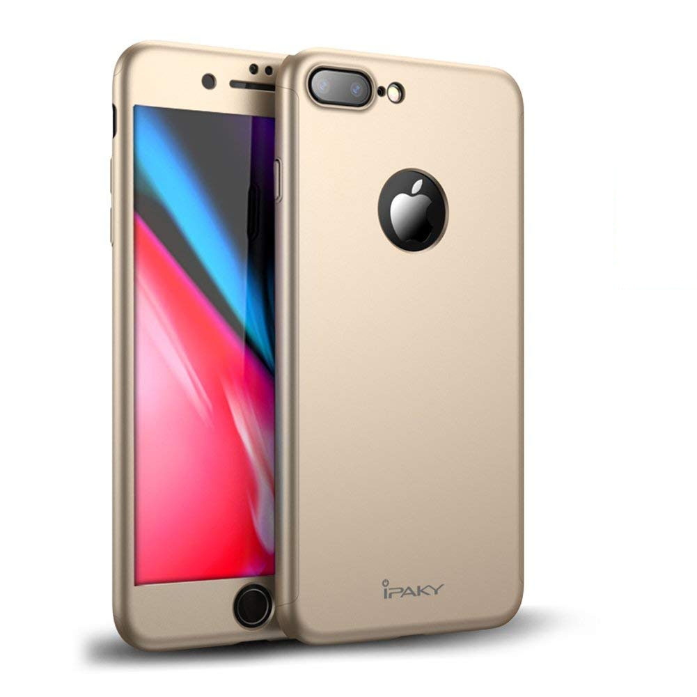 IPAKY 360 ° Ochranný obal + tvrzené sklo Apple iPhone 7 Plus zlatý 4d72f2f6ff0