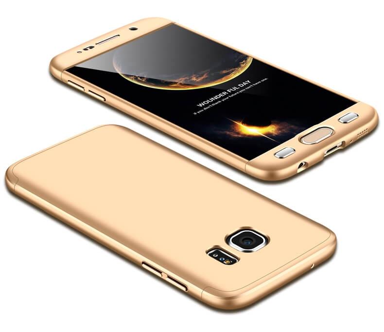 FORCELL 360 ° Ochranný obal Samsung Galaxy S7 zlatý 091df45791d