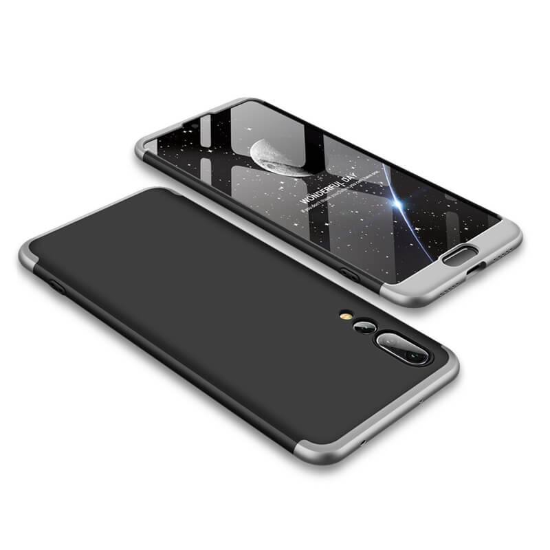 FORCELL 360 ° Ochranný kryt Huawei P20 Pro černý (stříbrný)
