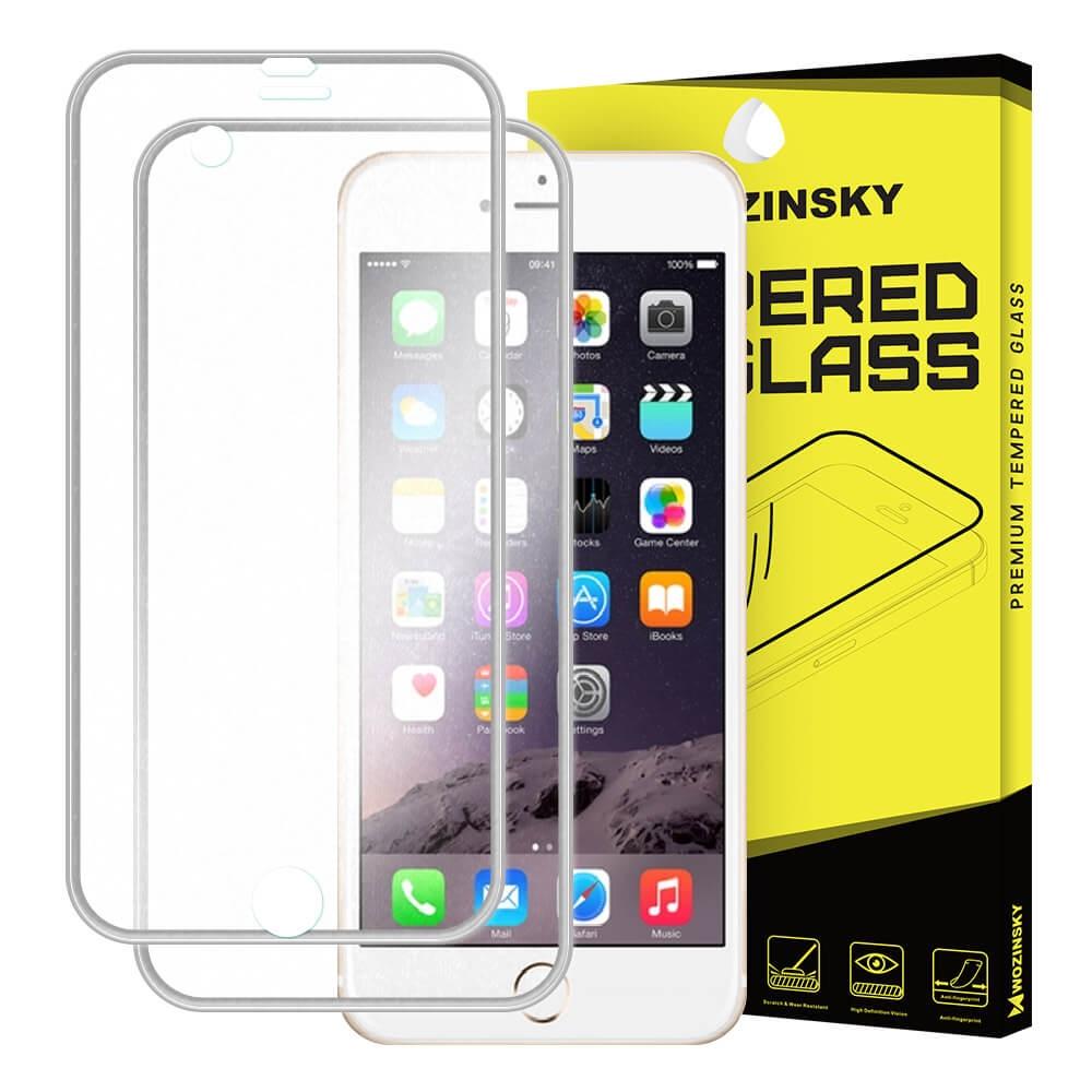 FORCELL 3D METALLIC tvrzené sklo přední + zadní Apple iPhone 6 Plus / 6S Plus stříbrné