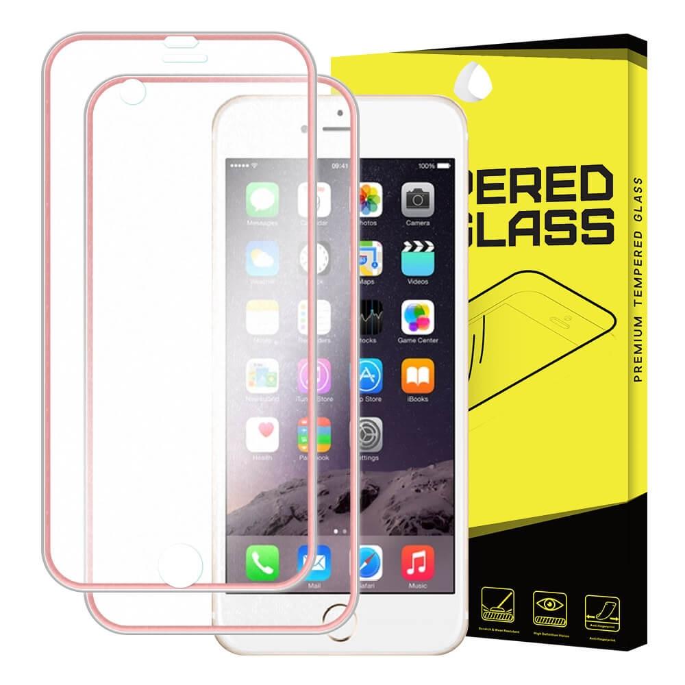 FORCELL 3D METALLIC tvrzené sklo přední + zadní Apple iPhone 6 / 6S růžové