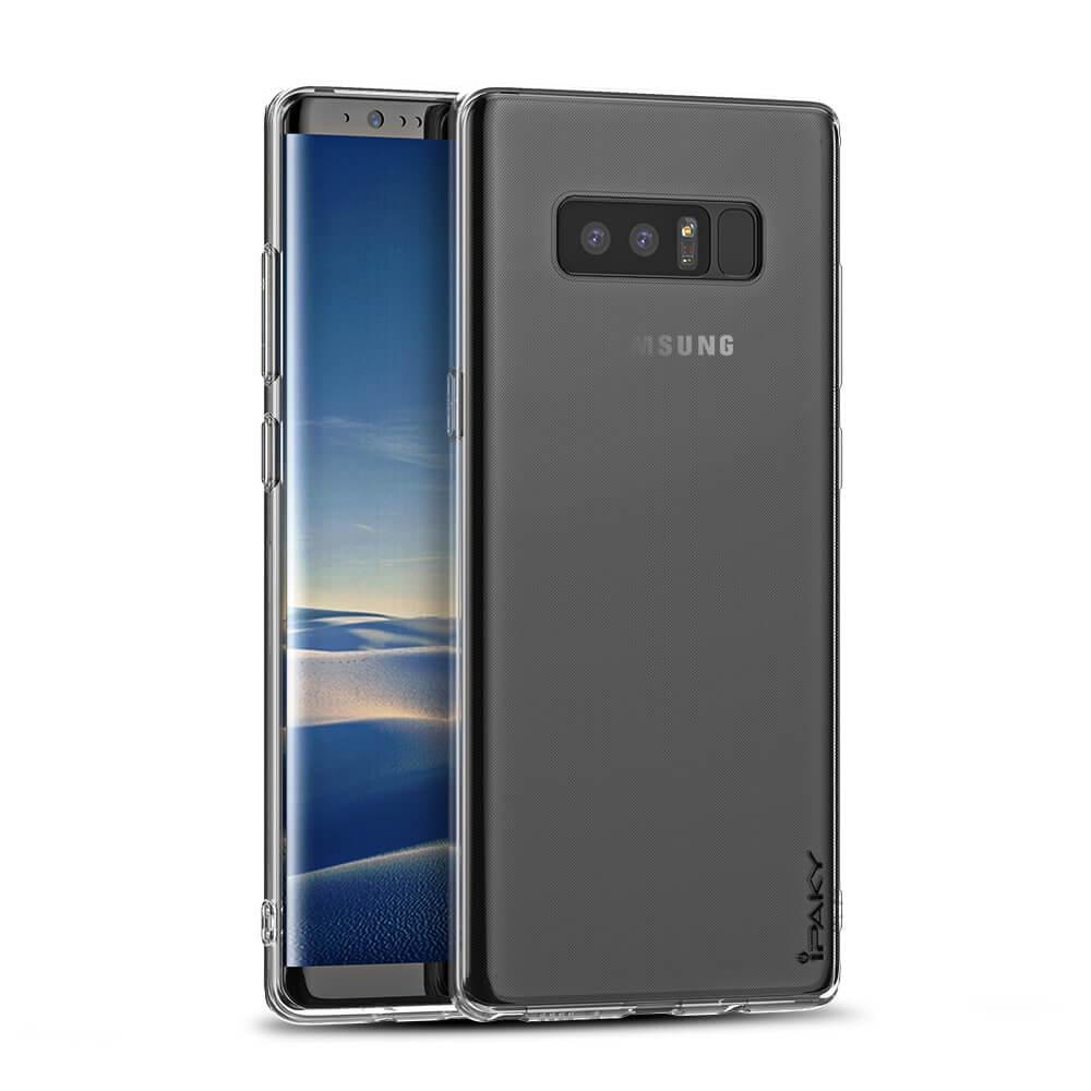 IPAKY SET Silikonový Kryt + tvrzené sklo Samsung Galaxy Note 8 průhledný