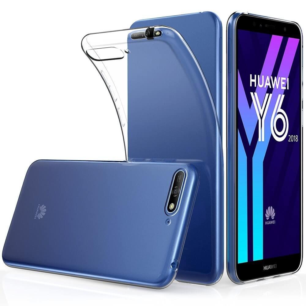 FORCELL Silikonový obal Huawei Y6 2018 průhledný