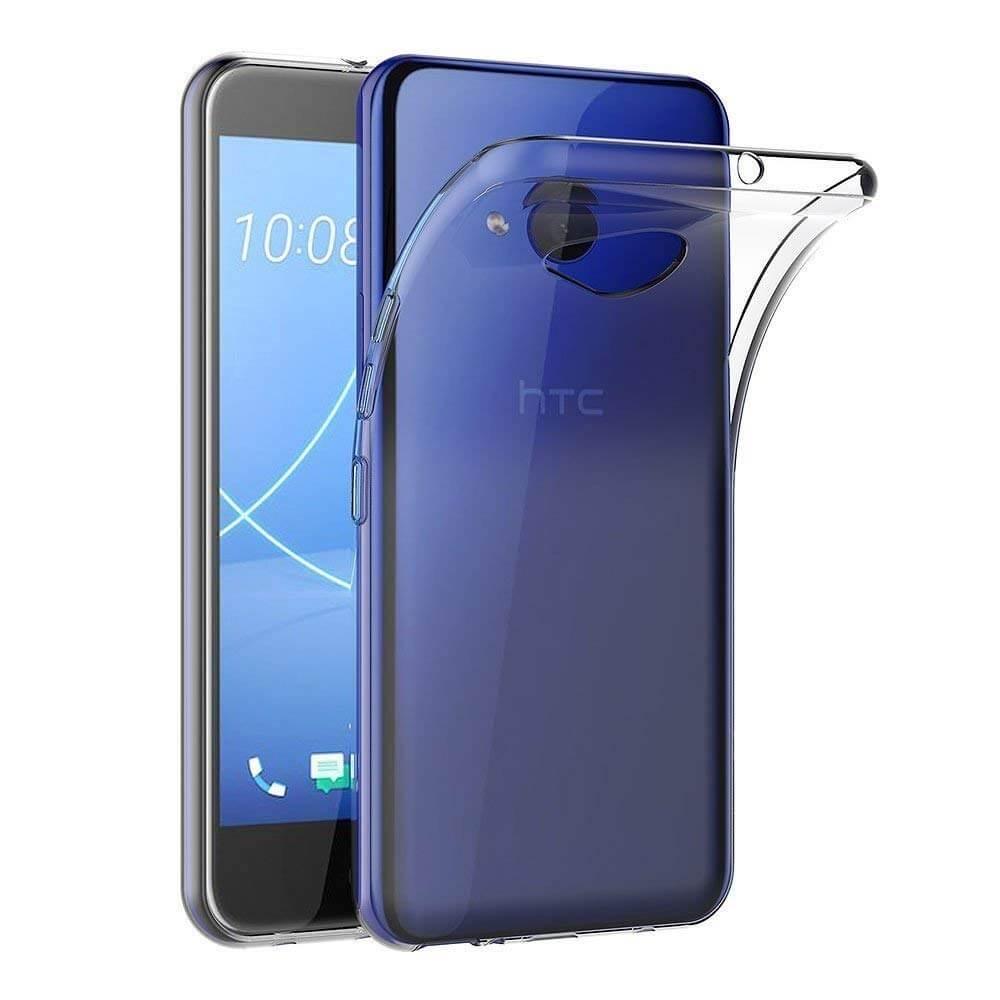 FORCELL Silikonový obal HTC U11 Lite průhledný
