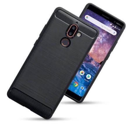 FORCELL FLEXI TPU Ochranný kryt Nokia 7.1 Plus / X7 černý