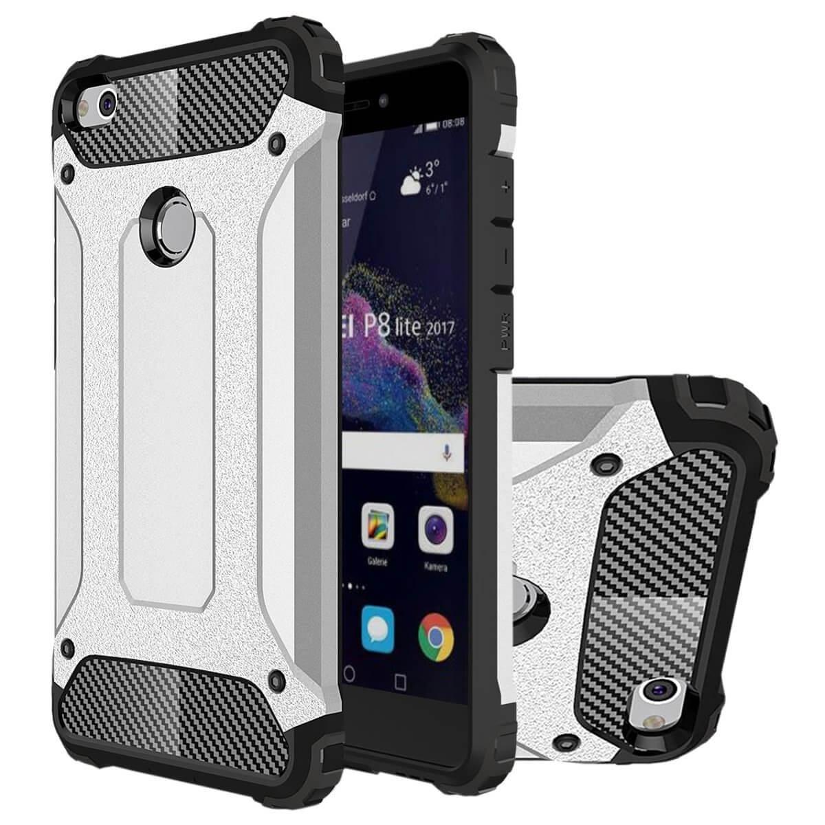 FORCELL TOUGH Ochranný kryt Huawei P9 Lite 2017 strieborný