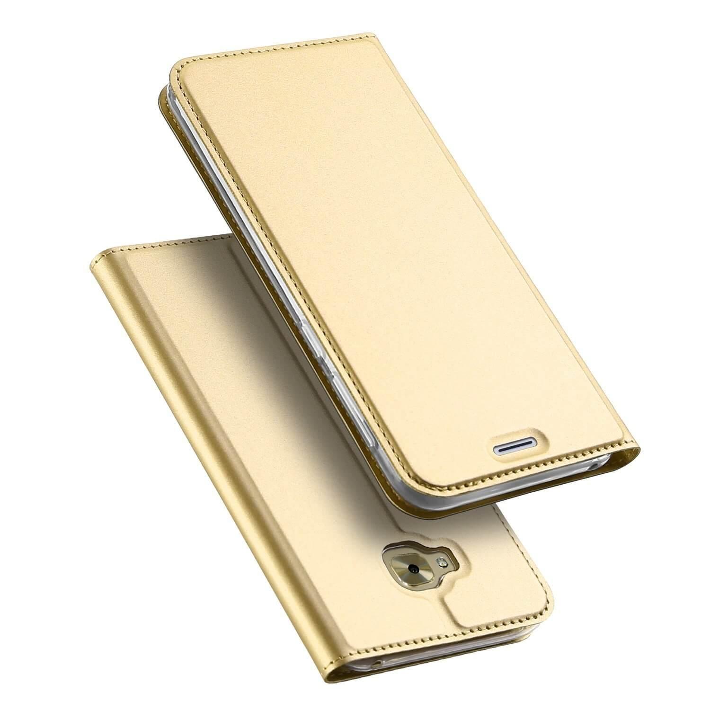 DUX Peňaženkový obal Asus Zenfone 4 Selfie (ZD553KL) zlatý