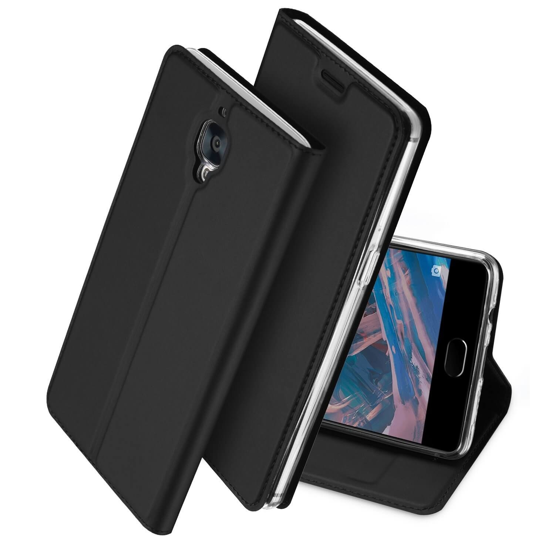 DUX Peňaženkový obal OnePlus 3 šedý