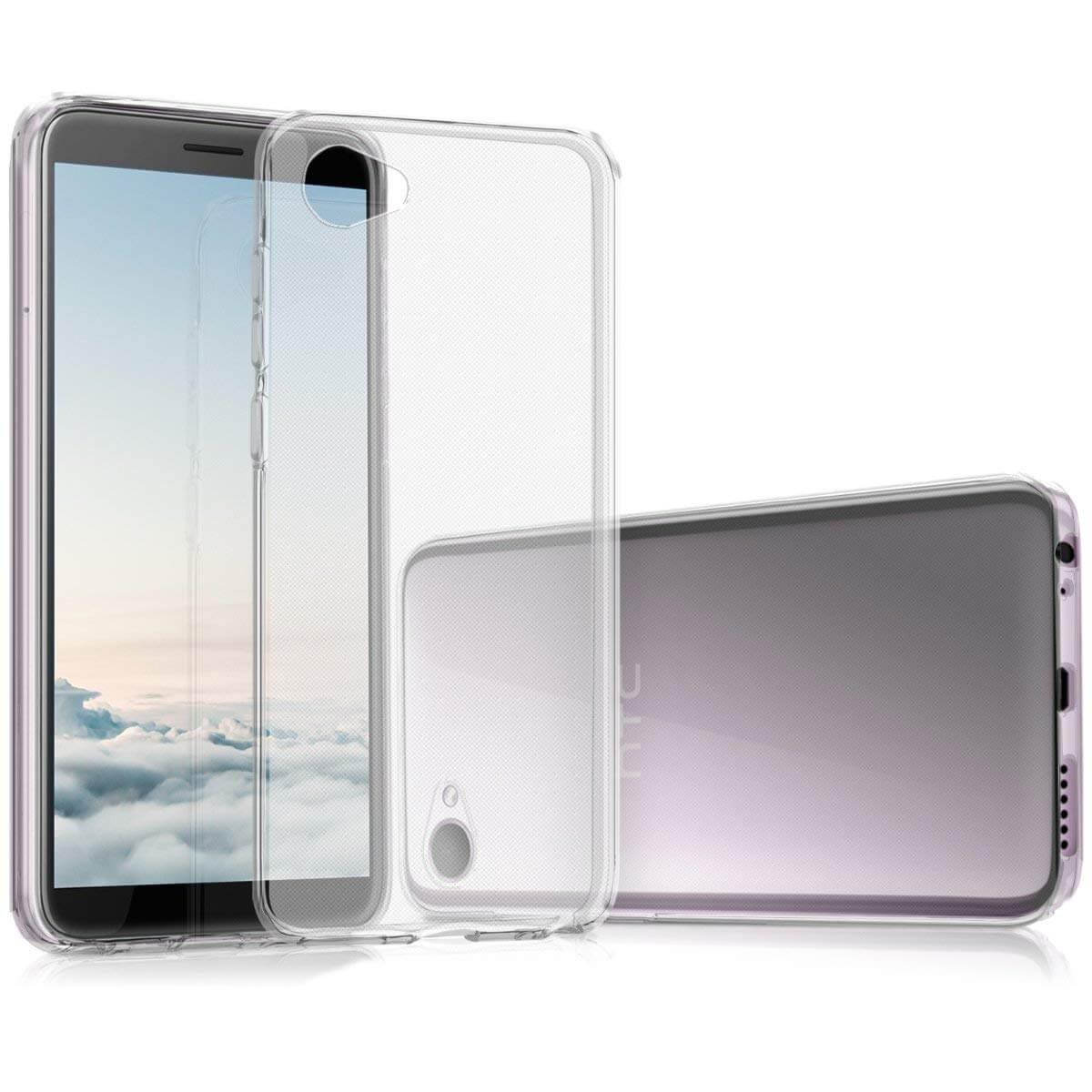 FORCELL Silikónový obal HTC Desire 12 priehľadný