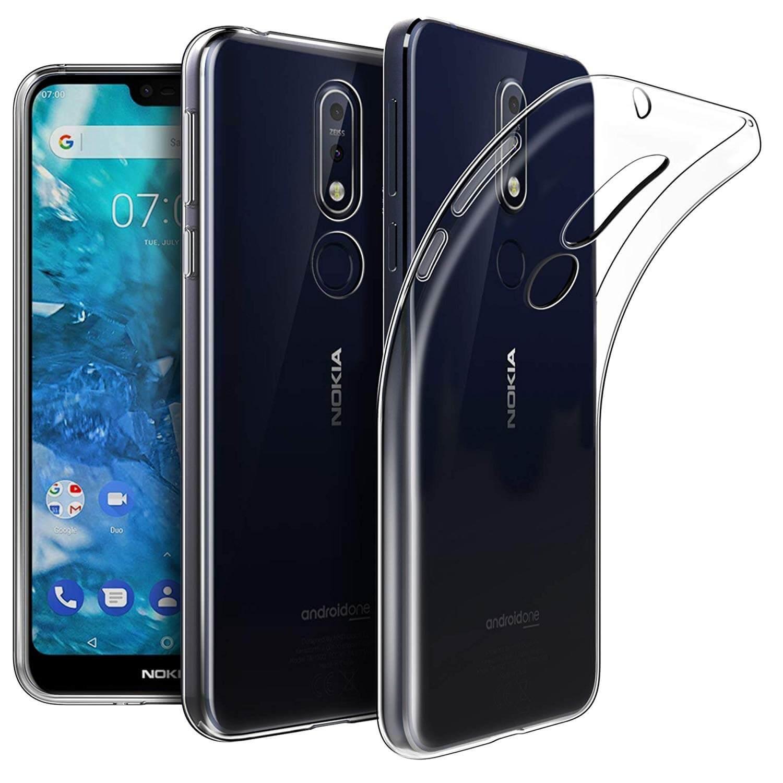 FORCELL Silikónový priehľadný obal Nokia 7.1 3e4a01816b1