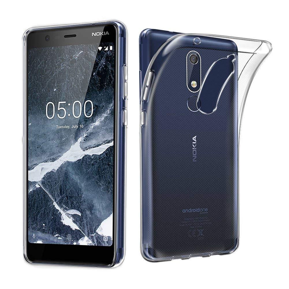 FORCELL Silikónový obal Nokia 5.1 priehľadný