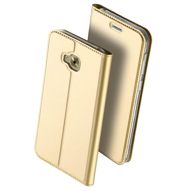 DUX Peňaženkový obal ASUS ZENFONE 4 SELFIE PRO (ZD552KL) zlatý
