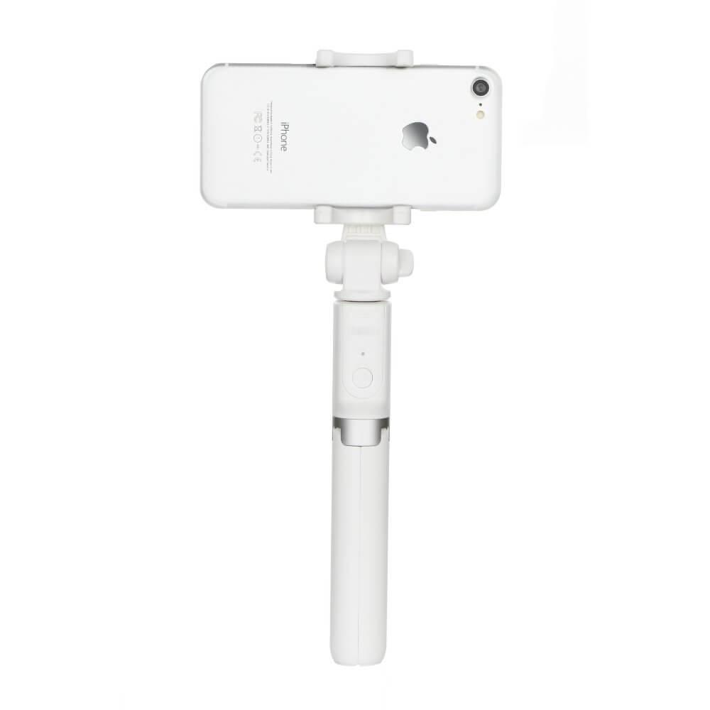 REMAX P9 Bluetooth selfie tyč so statívom biela