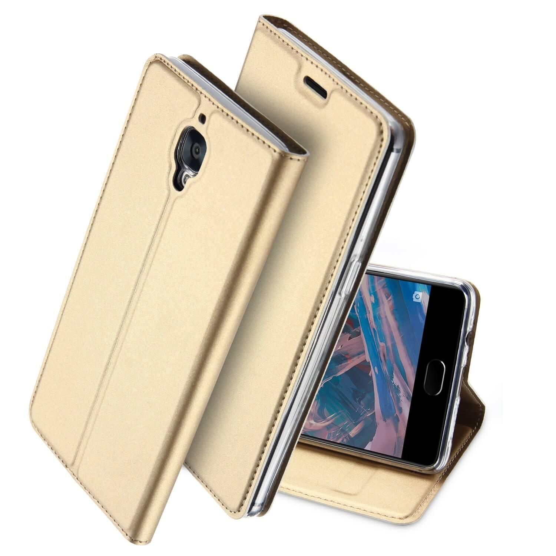 DUX Peňaženkový obal OnePlus 3 zlatý