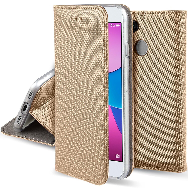 FORCELL MAGNET Peňaženkový obal Huawei P9 Lite MINI zlatý