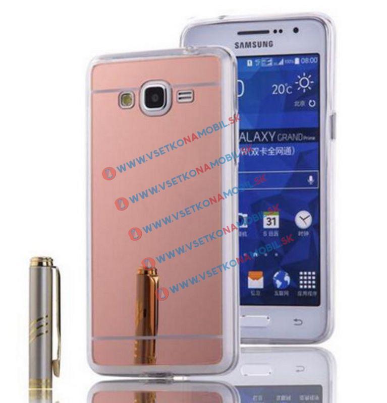 FORCELL Zrkadlový silikónový obal Samsung Galaxy Grand Prime ružový
