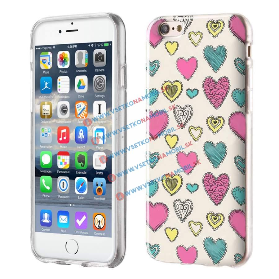 FORCELL Silikónový obal iPhone 6 / 6S HEARTS