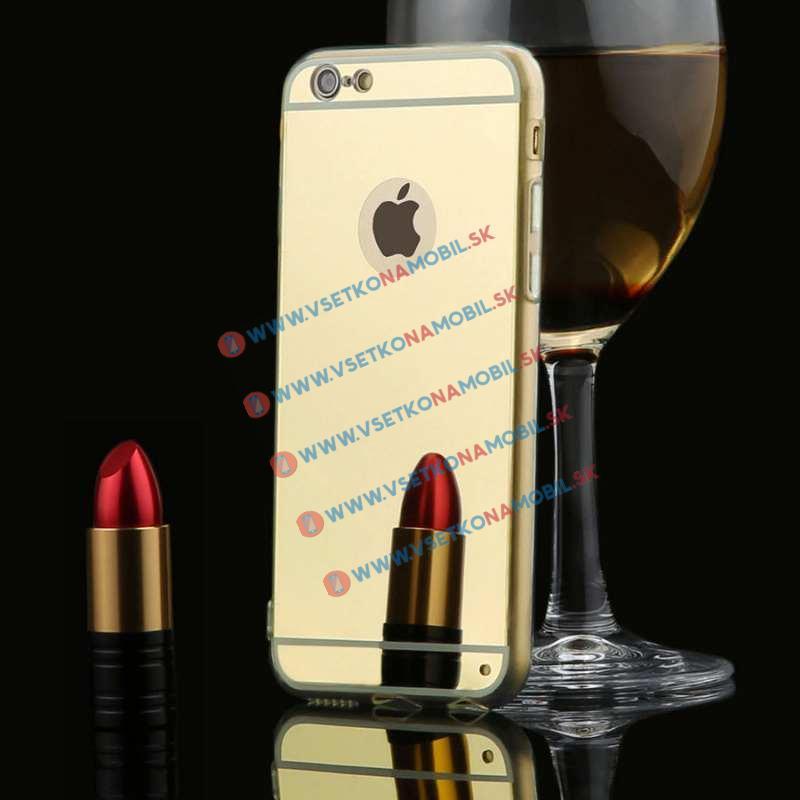 FORCELL Zrcadlový silikonový obal iPhone 6 Plus   6S Plus zlatý 746c2998eae