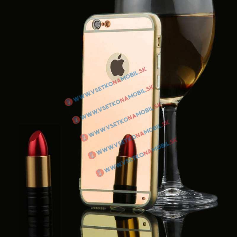 FORCELL Zrkadlový silikónový obal iPhone 6 Plus / 6S Plus ružový