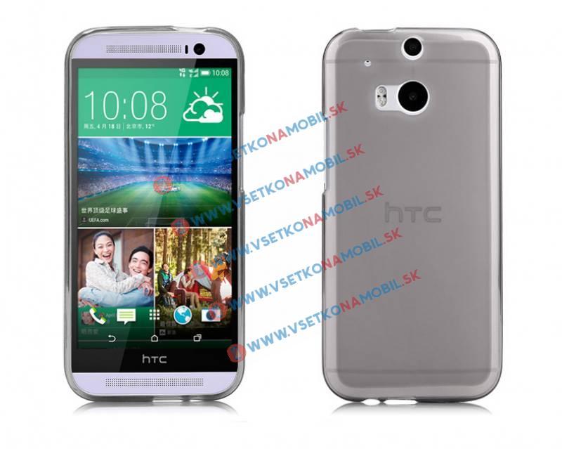 FORCELL Silikónový obal HTC One M8 šedý