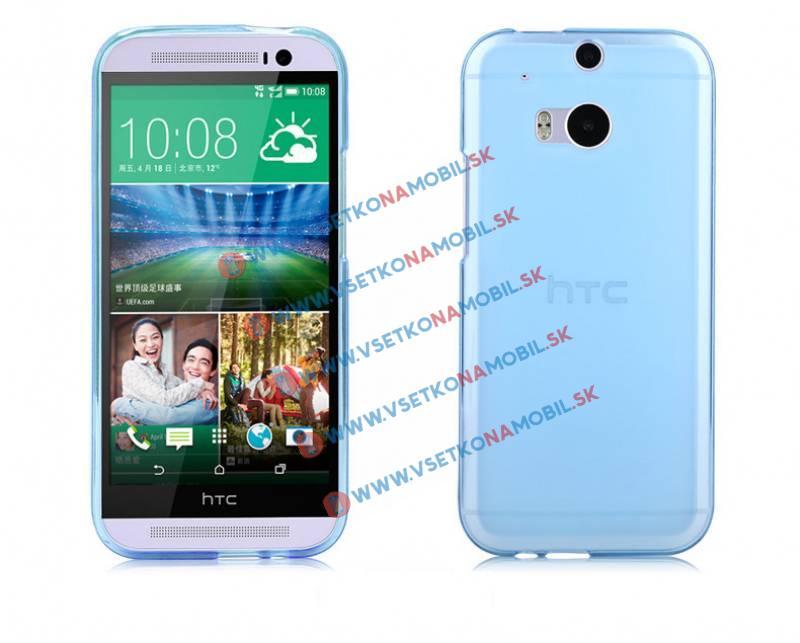 FORCELL Silikonový obal HTC One M8 modrý