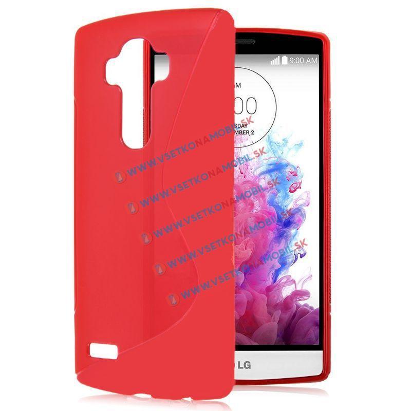 FORCELL Silikonový obal LG G4 červený