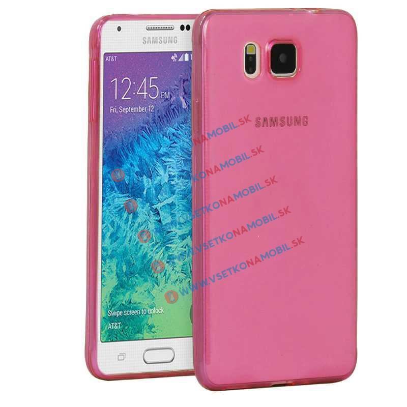 FORCELL Silikonový obal Samsung Galaxy Alpha růžový