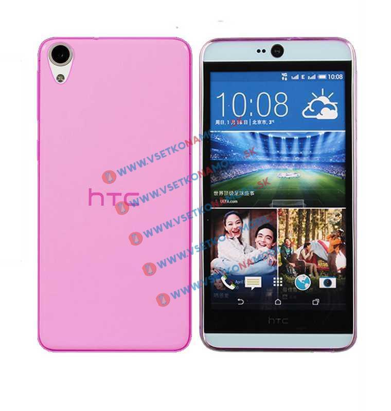 FORCELL Silikonový obal HTC Desire 820 růžový