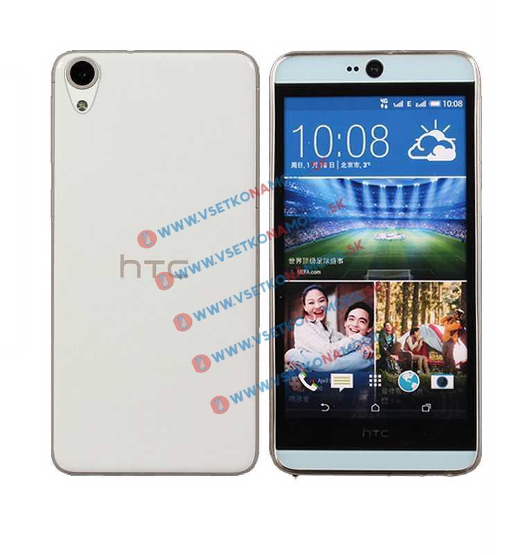 FORCELL Silikonový obal HTC Desire 820 průhledný