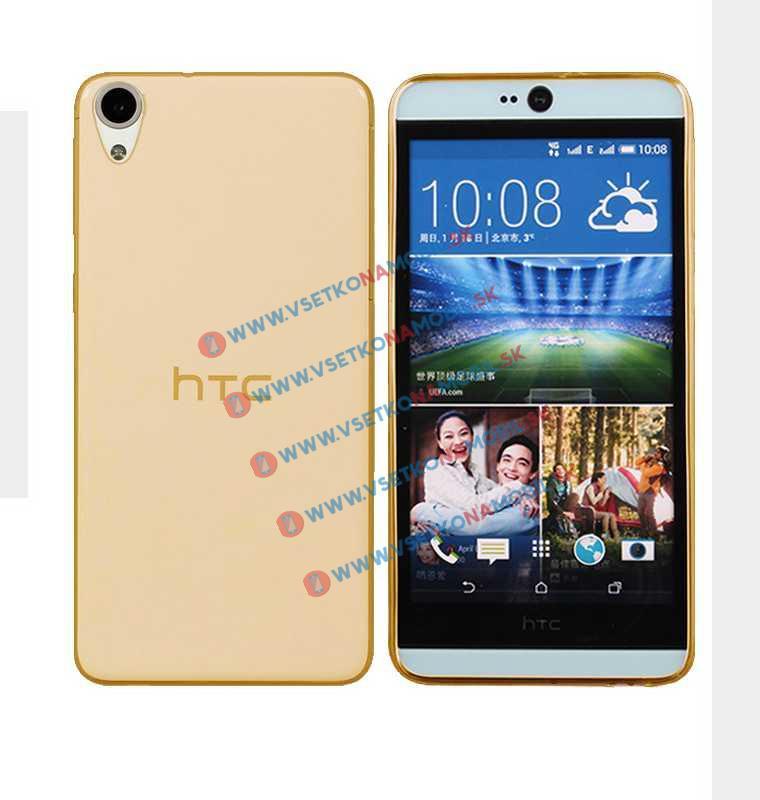 FORCELL Silikónový obal HTC Desire 820 zlatý