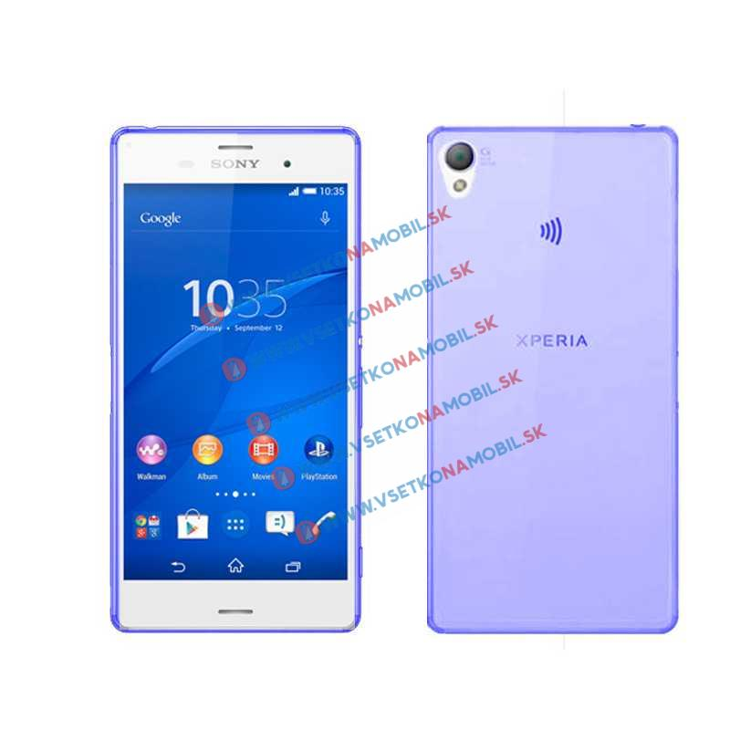 FORCELL Silikonový obal Sony Xperia Z3 modrý