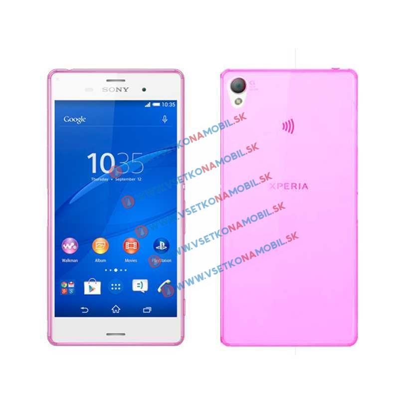 FORCELL Silikónový obal Sony Xperia Z3 ružový