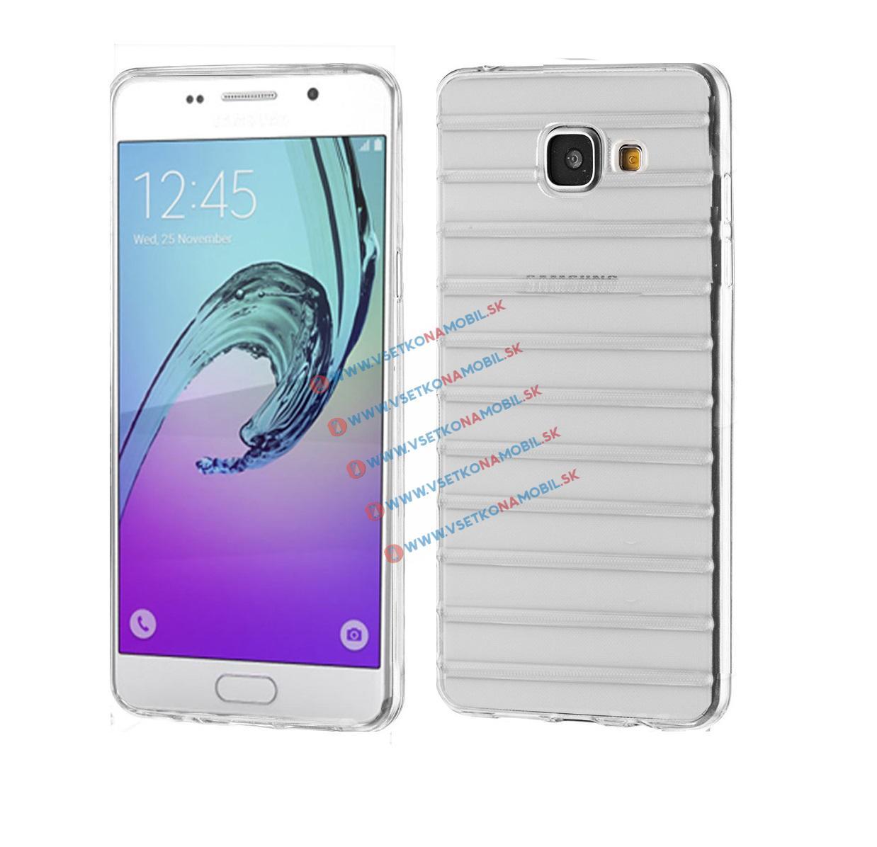 FORCELL Silikónový obal Samsung Galaxy A5 2016 (A510) priehľadný STRIPES