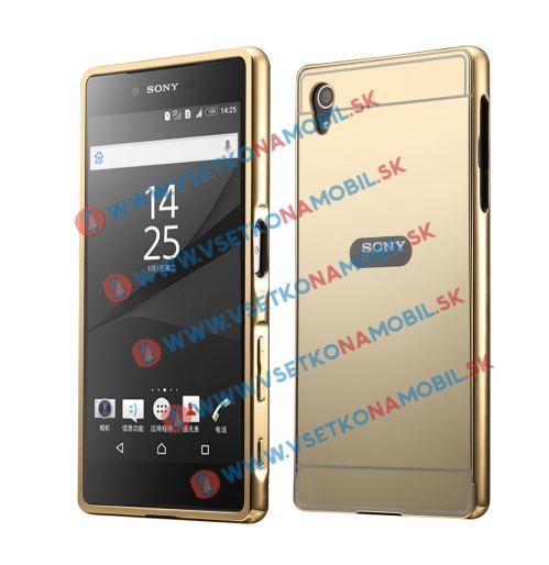 Zrcadlový obal Sony Xperia M4 Aqua zlatý