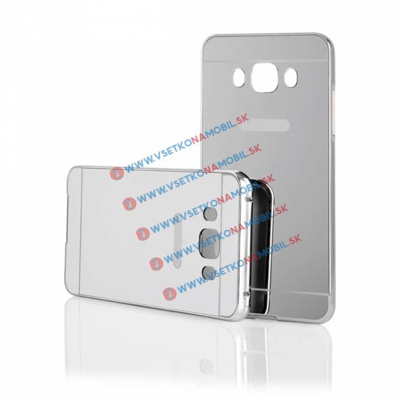 Ochranný zrkadlový obal Samsung Galaxy J5 2016 strieborný