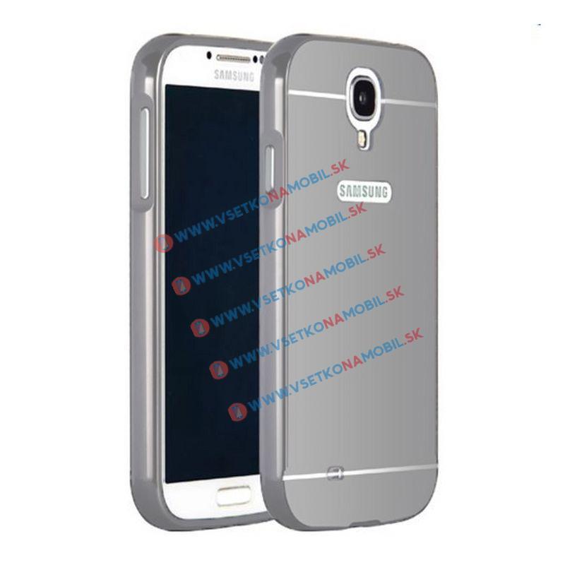 FORCELL Zrcadlový obal Samsung Galaxy S4 stříbrný