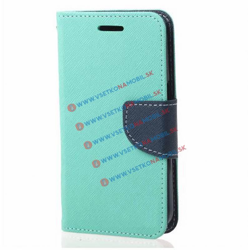 Peňaženkové flip púzdro LG K10 zelené mint