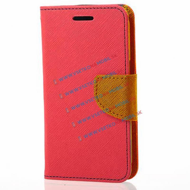 Peňaženkové flip púzdro LG K10 červené brown
